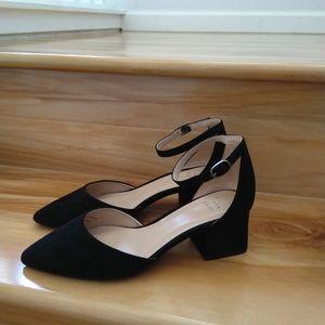 A new day black heels size 6W
